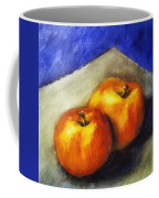 Two Apples With Blue Coffee Mug