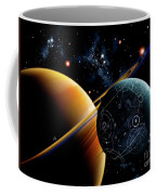Two Artificial Moons Travelling Coffee Mug