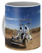 Two Astronauts Take A Ride On Scout Coffee Mug