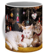 Two Cats At Christmas Coffee Mug
