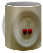Two Cherries On A Plate Coffee Mug