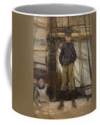 Two Children On Deck Coffee Mug