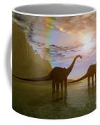 Two Diplodocus Dinosaurs Wade Coffee Mug