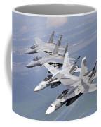 Two Fa-18 Hornets And Two F-15 Strike Coffee Mug