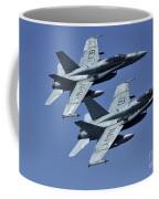 Two Fa-18c Hornets In Flight Coffee Mug