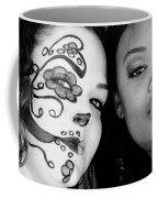 Two Faces In Black And White Coffee Mug