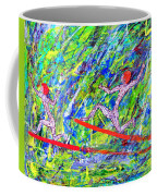 Two Flying Surfers Two K O Nine Coffee Mug