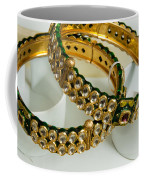 Two Green And Gold Bangles On Top Of Each Other Coffee Mug