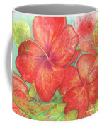 Two Hibiscus Blossoms Coffee Mug