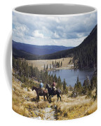 Two Horsemen Ride Above Pecos Baldy Coffee Mug