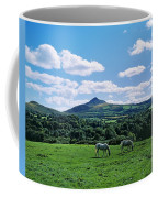 Two Horses Grazing In A Field Coffee Mug