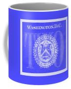 Two In Negative Blue Coffee Mug