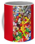 Two Jars Dice And Buttons Coffee Mug