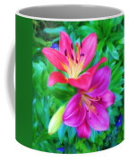 Two Lily Flowers Coffee Mug