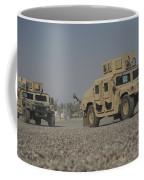 Two M1114 Humvee Vehicles At Camp Taji Coffee Mug