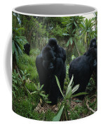 Two Mother Gorillas Carrying Coffee Mug