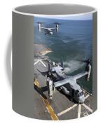 Two Mv-22 Ospreys Land On The Flight Coffee Mug