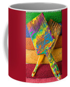 Two Paintbrushes On Paint Rollers Coffee Mug
