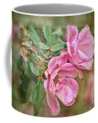 Two Pink Roses II Blank Greeting Card Coffee Mug