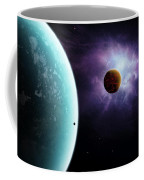 Two Planets Born From The Same Star Coffee Mug