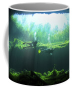 Two Scuba Divers In The Cenote System Coffee Mug by Karen Doody