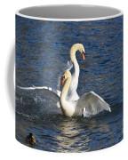 Two Swans Playing Coffee Mug