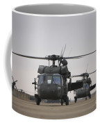 Two Uh-60 Black Hawks Taxi Coffee Mug by Terry Moore