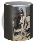 Two U.s. Marines Use A Mine Detector Coffee Mug
