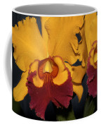Two Yellow And Red Orchids Coffee Mug