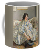 Tying Her Shoe Coffee Mug by Sir Walter Russell