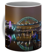 Tyne Bridge At Night Coffee Mug