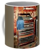 Type Case With Denim Apron Coffee Mug