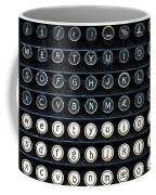 Typewriter Keyboard Coffee Mug by Hakon Soreide