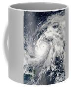 Typhoon Sanba Over The Pacific Ocean Coffee Mug