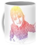 Typography Portrait Childhood Wonder Coffee Mug by Nikki Marie Smith