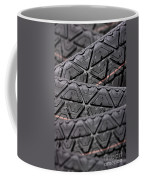 Tyres Stacked With Focus Depth Coffee Mug