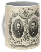 Ulyssess S Grant And Schuyler Colfax Republican Campaign Poster Coffee Mug