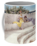 Under The Roof Of Blue Ionian Weather Coffee Mug by Sir Lawrence Alma-Tadema