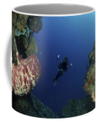 Underwater Photographer At The Entrance Coffee Mug