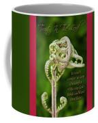 Unfurling Faith Coffee Mug