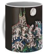 Unicorn In Sea Below Castle Coffee Mug by Carol Law Conklin