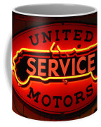 United Motors Service Neon Sign Coffee Mug