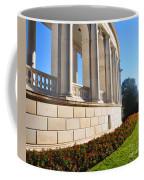 Upclose Of Arlington Memorial Amphitheater Coffee Mug