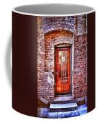 Urban Door In Old Brick Building Coffee Mug