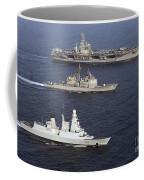 U.s. And French Navy Ships Transit Coffee Mug