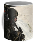 U.s. Army Captain Looks Out The Door Coffee Mug