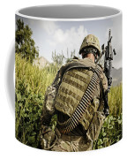 U.s. Army Mk48 Machine Gunner Patrols Coffee Mug