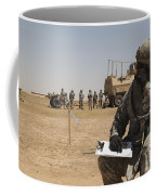 U.s. Army Radio Operator Communicates Coffee Mug