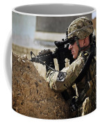 U.s. Army Sergeant Pulls Security While Coffee Mug