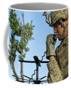 U.s. Army Soldier Calls For Indirect Coffee Mug